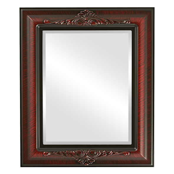Beveled Mirror - Winchester Rectangle Frame - Vintage Cherry