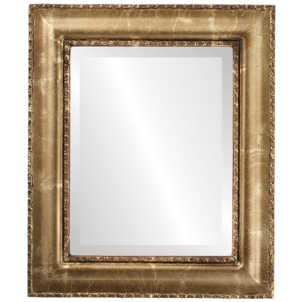 Beveled Mirror - Somerset Rectangle Frame - Champagne Gold
