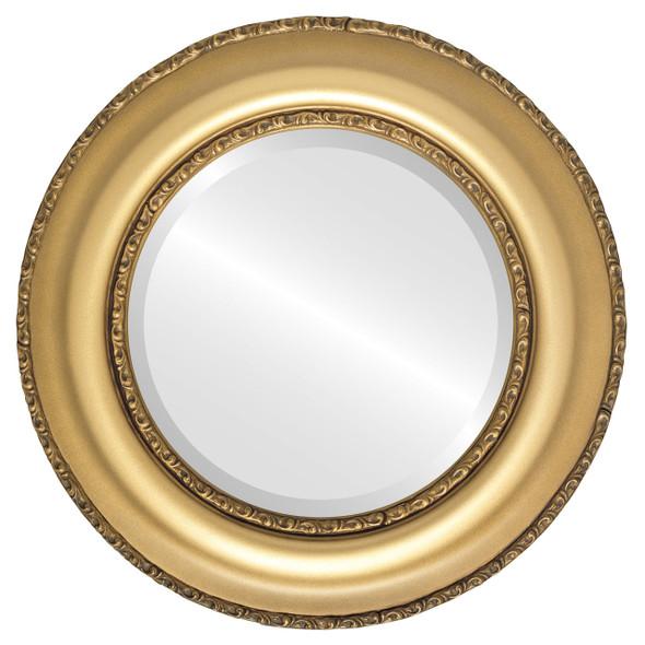 Beveled Mirror - Somerset Round Frame - Desert Gold