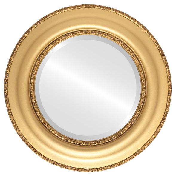 Beveled Mirror - Somerset Round Frame - Gold Spray