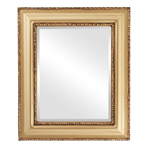 Beveled Mirror - Somerset Rectangle Frame - Gold Spray