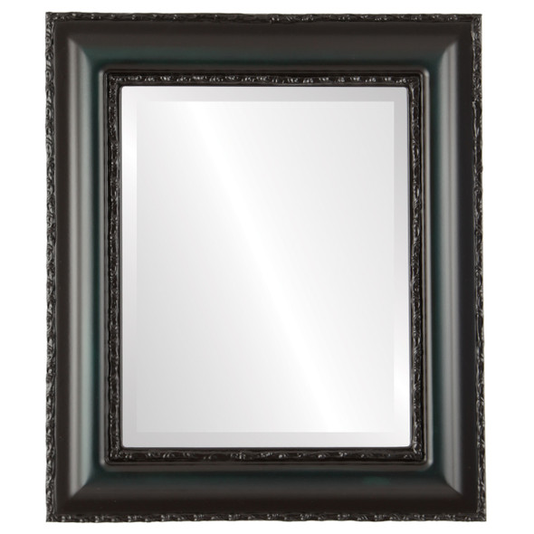 Beveled Mirror - Somerset Rectangle Frame - Hunter Green