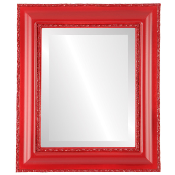 Beveled Mirror - Somerset Rectangle Frame - Holiday Red