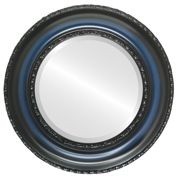 Beveled Mirror - Somerset Round Frame - Royal Blue