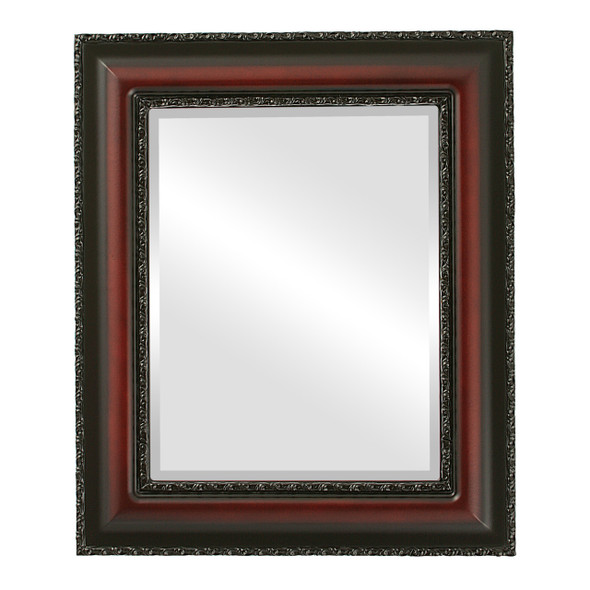 Beveled Mirror - Somerset Rectangle Frame - Rosewood