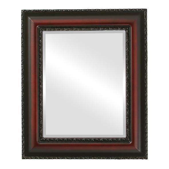 Beveled Mirror - Somerset Rectangle Frame - Rosewood
