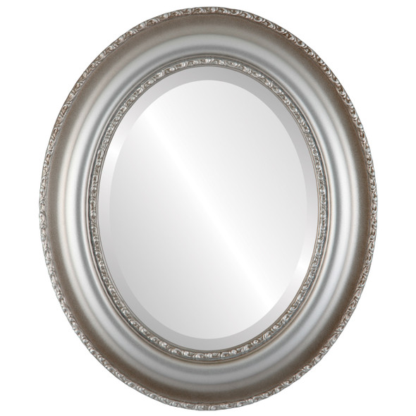 Beveled Mirror - Somerset Oval Frame - Silver Shade