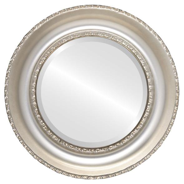 Beveled Mirror - Somerset Round Frame - Silver Shade