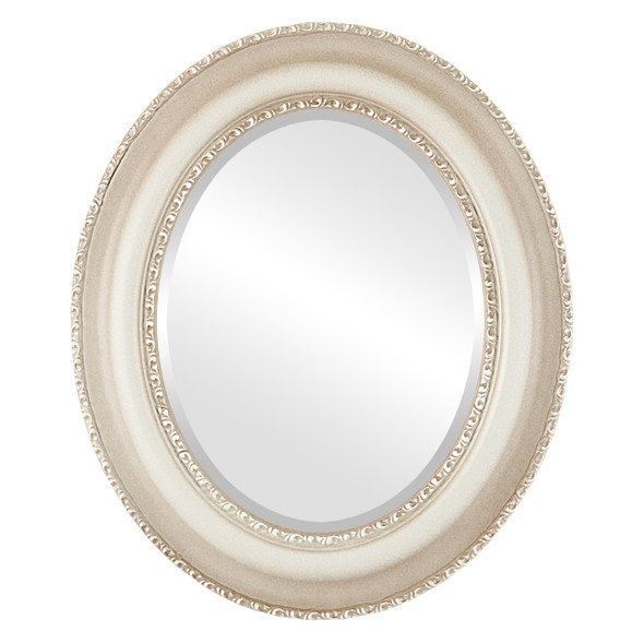 Beveled Mirror - Somerset Oval Frame - Taupe
