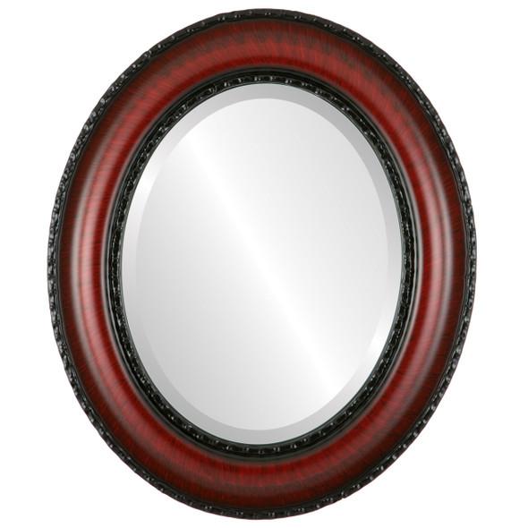 Beveled Mirror - Somerset Oval Frame - Vintage Cherry