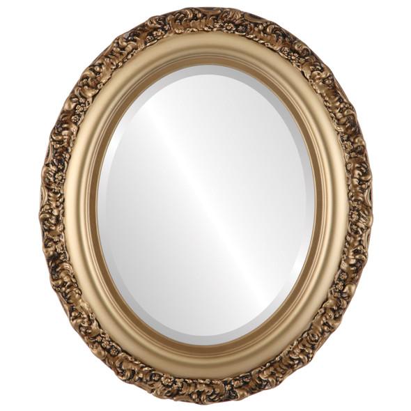 Beveled Mirror - Venice Oval Frame - Desert Gold
