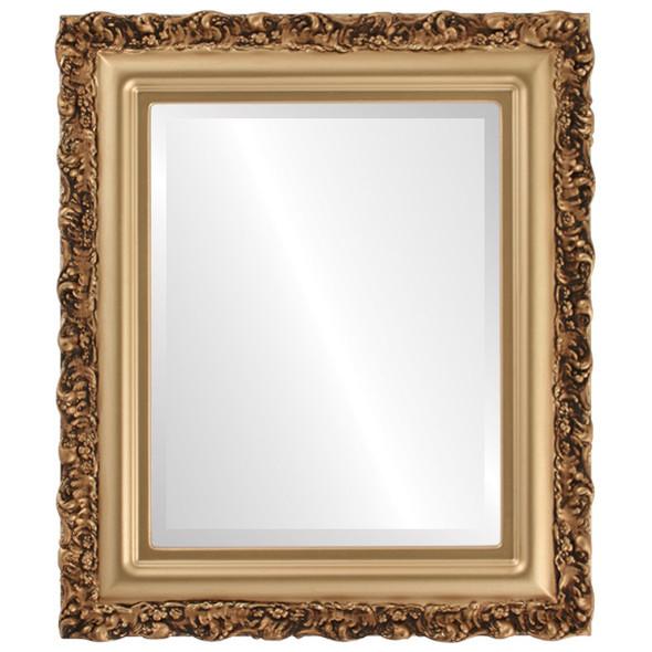 Beveled Mirror - Venice Rectangle Frame - Desert Gold