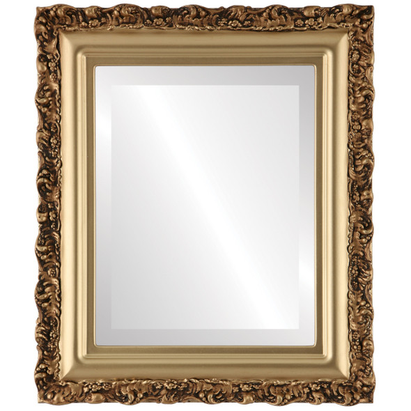 Beveled Mirror - Venice Rectangle Frame - Gold Spray