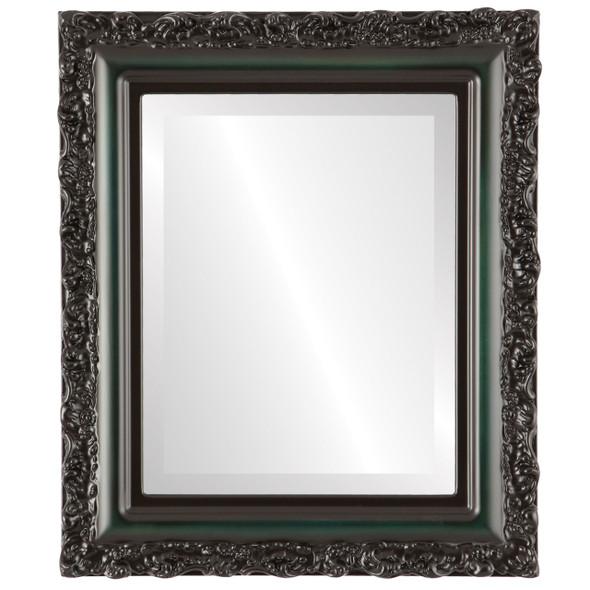 Beveled Mirror - Venice Rectangle Frame - Hunter Green