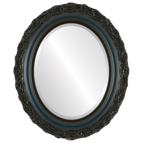 Beveled Mirror - Venice Oval Frame - Royal Blue