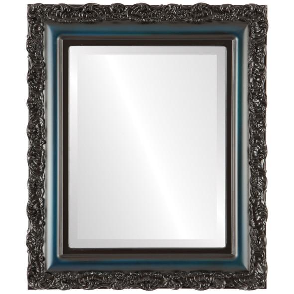 Beveled Mirror - Venice Rectangle Frame - Royal Blue