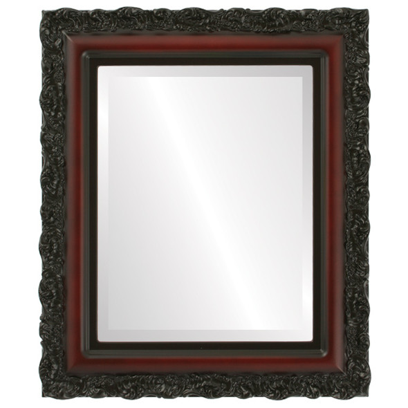 Beveled Mirror - Venice Rectangle Frame - Rosewood
