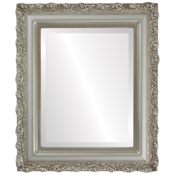 Beveled Mirror - Venice Rectangle Frame - Silver Shade