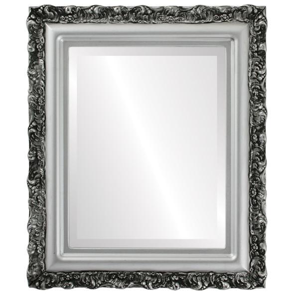 Beveled Mirror - Venice Rectangle Frame - Silver Spray