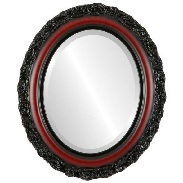 Beveled Mirror - Venice Oval Frame - Vintage Cherry