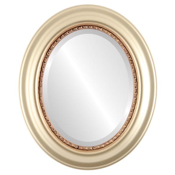 Beveled Mirror - Chicago Oval Frame - Desert Gold