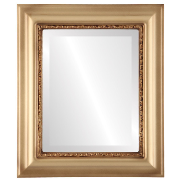 Beveled Mirror - Chicago Rectangle Frame - Desert Gold