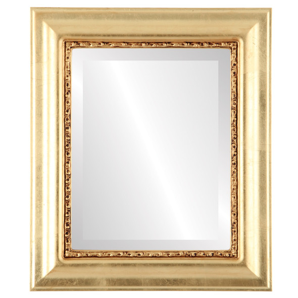 Beveled Mirror - Chicago Rectangle Frame - Gold Leaf