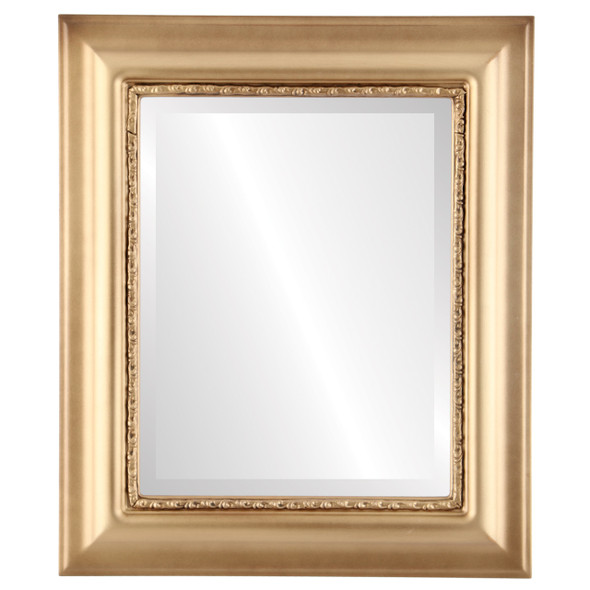 Beveled Mirror - Chicago Rectangle Frame - Gold Spray