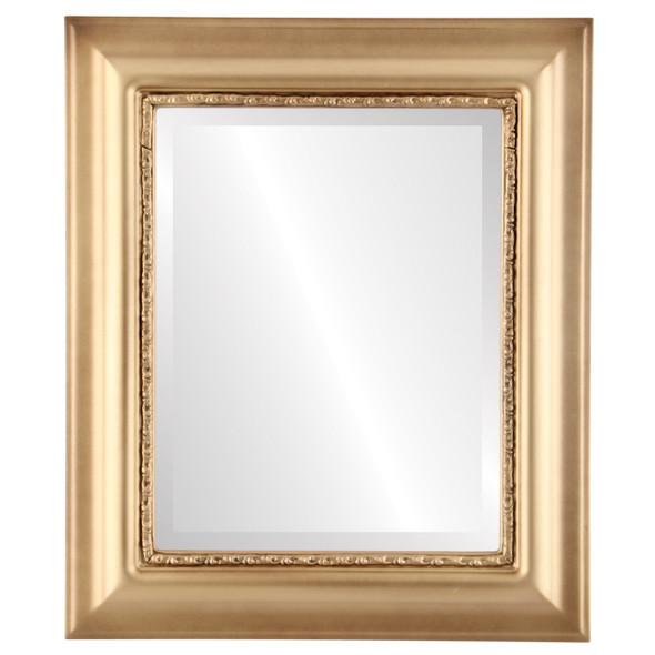 Beveled Mirror - Chicago Rectangle Frame - Gold Spray