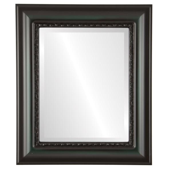 Beveled Mirror - Chicago Rectangle Frame - Hunter Green