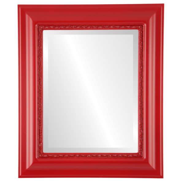 Beveled Mirror - Chicago Rectangle Frame - Holiday Red