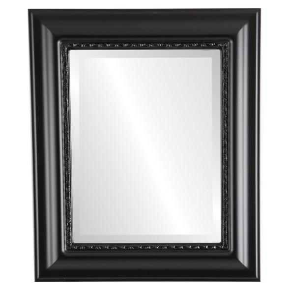 Beveled Mirror - Chicago Rectangle Frame - Matte Black