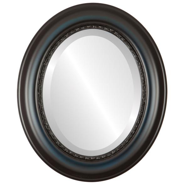Beveled Mirror - Chicago Oval Frame - Royal Blue