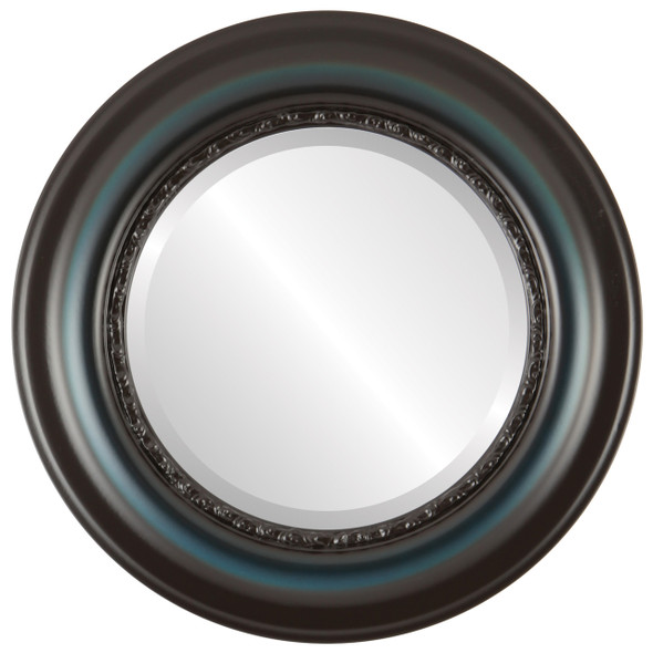 Beveled Mirror - Chicago Round Frame - Royal Blue
