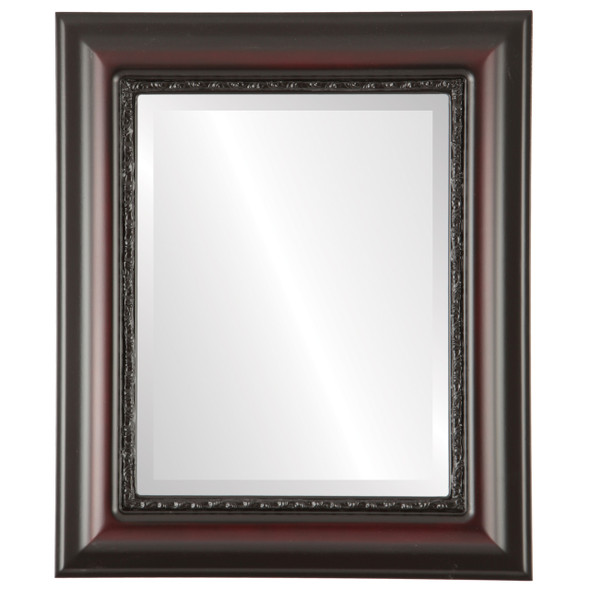 Beveled Mirror - Chicago Rectangle Frame - Rosewood