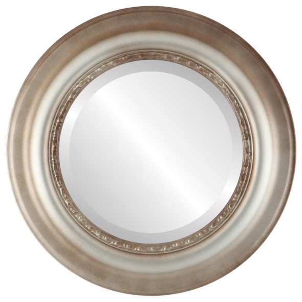 Beveled Mirror - Chicago Round Frame - Silver Shade