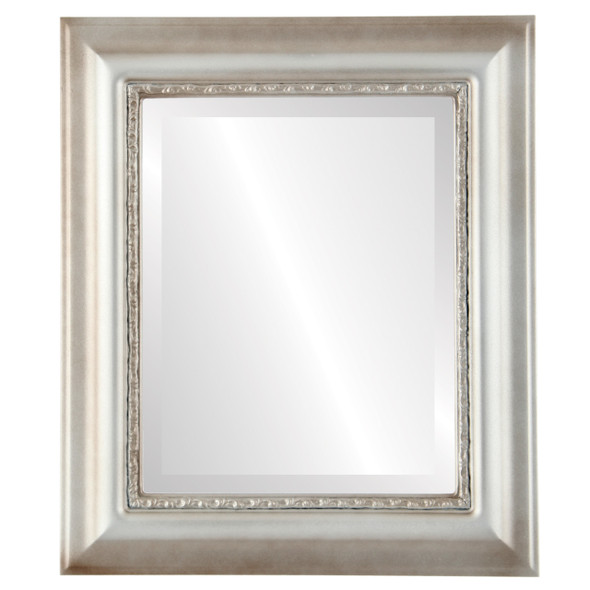 Beveled Mirror - Chicago Rectangle Frame - Silver Shade