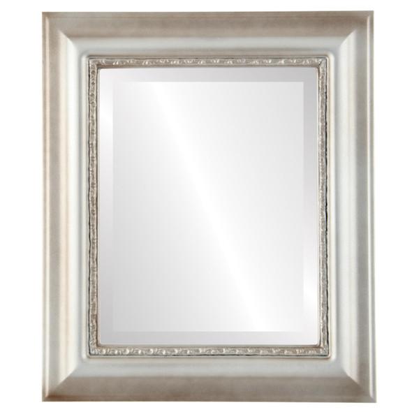 Beveled Mirror - Chicago Rectangle Frame - Silver Shade