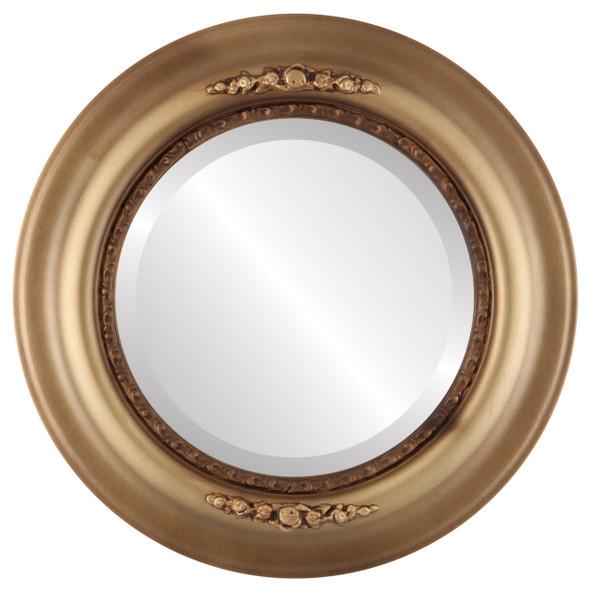 Beveled Mirror - Boston Round Frame - Desert Gold