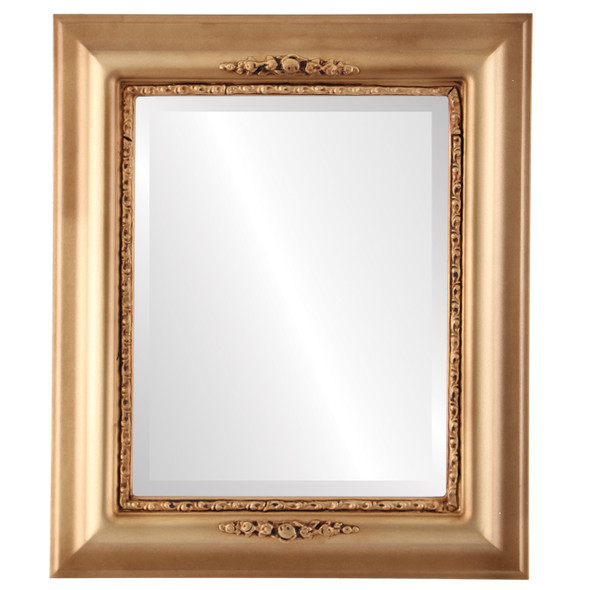 Beveled Mirror - Boston Rectangle Frame - Desert Gold