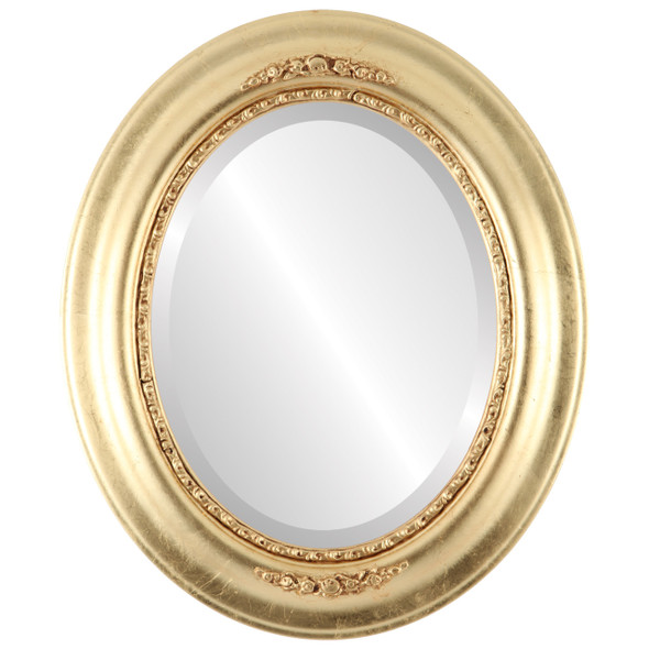 Beveled Mirror - Boston Oval Frame - Gold Leaf
