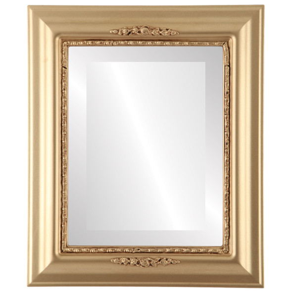 Beveled Mirror - Boston Rectangle Frame - Gold Spray