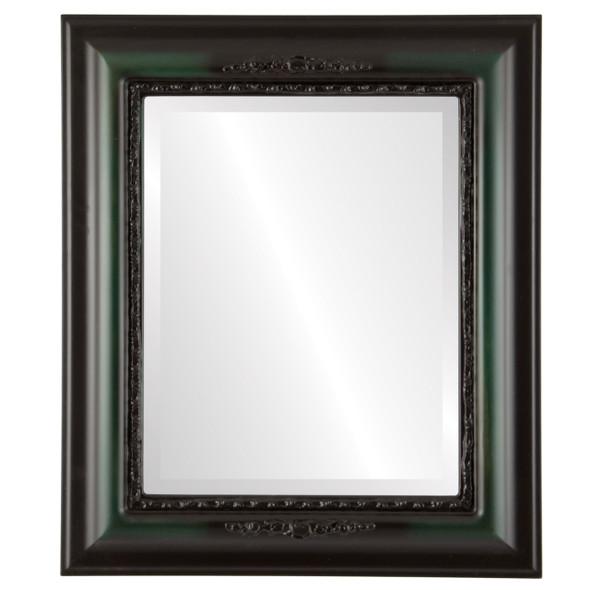 Beveled Mirror - Boston Rectangle Frame - Hunter Green