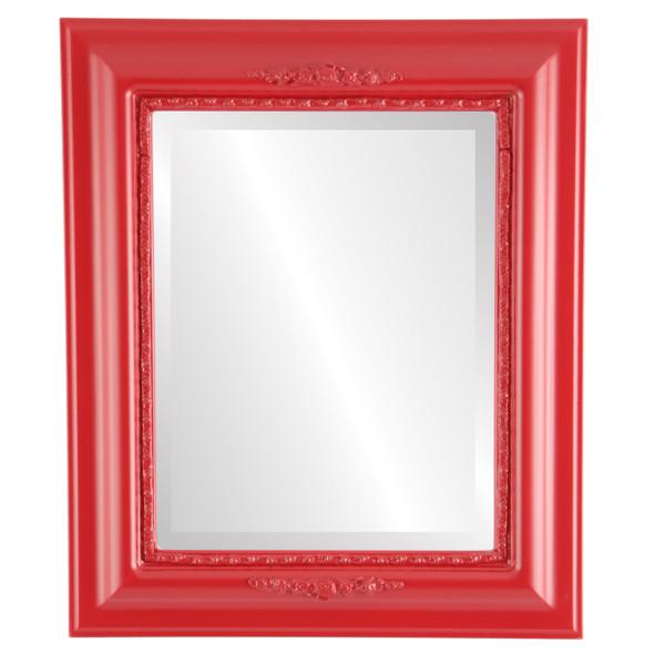 Beveled Mirror - Boston Rectangle Frame - Holiday Red