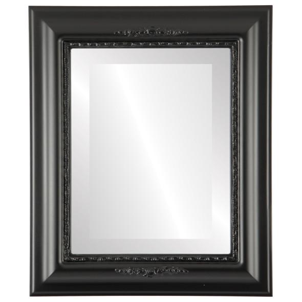 Beveled Mirror - Boston Rectangle Frame - Matte Black
