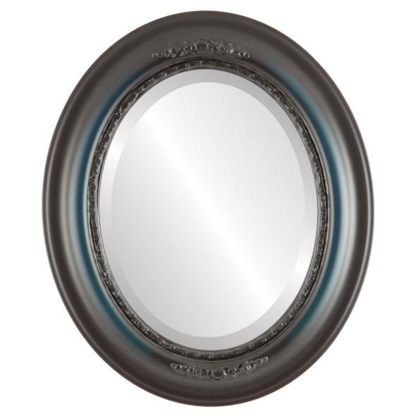 Beveled Mirror - Boston Oval Frame - Royal Blue
