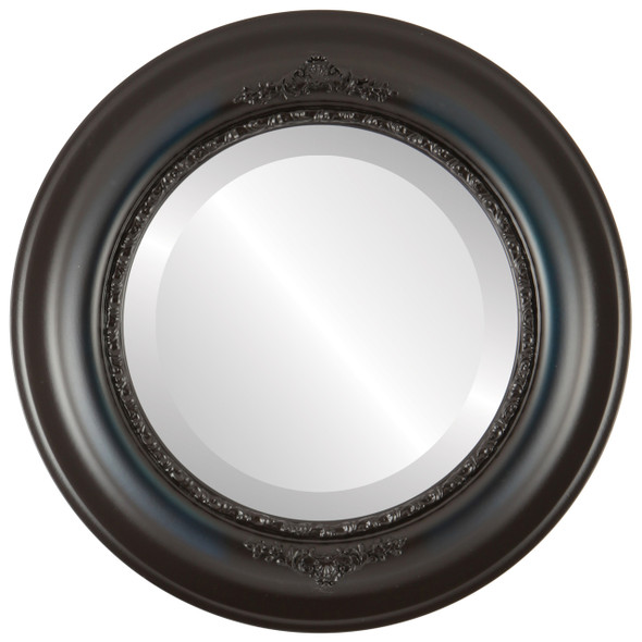 Beveled Mirror - Boston Round Frame - Royal Blue