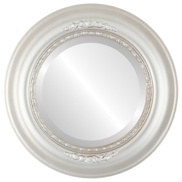 Beveled Mirror - Boston Round Frame - Silver Shade