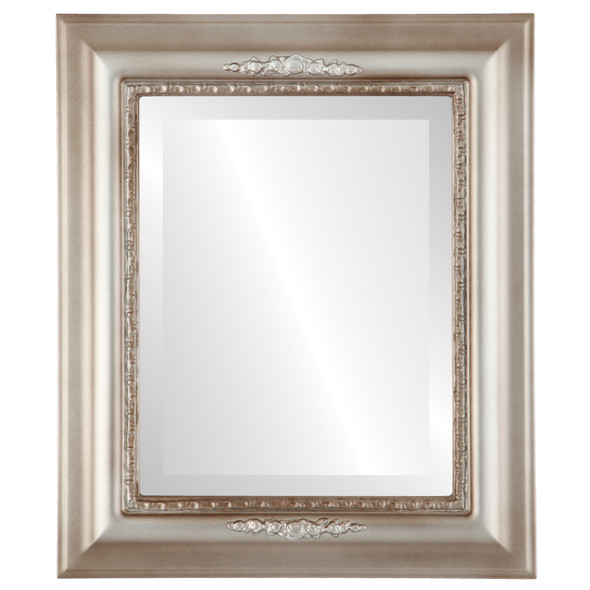 Beveled Mirror - Boston Rectangle Frame - Silver Shade