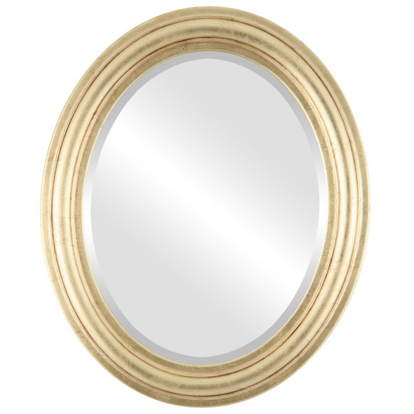 Beveled Mirror - Philadelphia Oval Frame - Gold Leaf